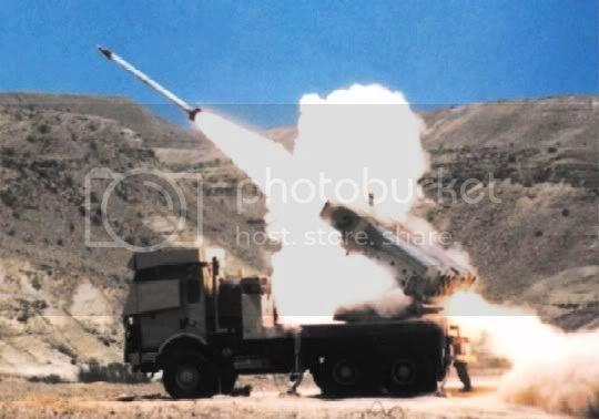 MLRS - Multiple Launch Rocket System CoheteLAR-160