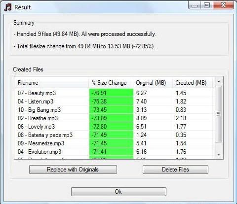 Compress MP3 files without Quality Loss Soft_mp3qualitymodifier10_5
