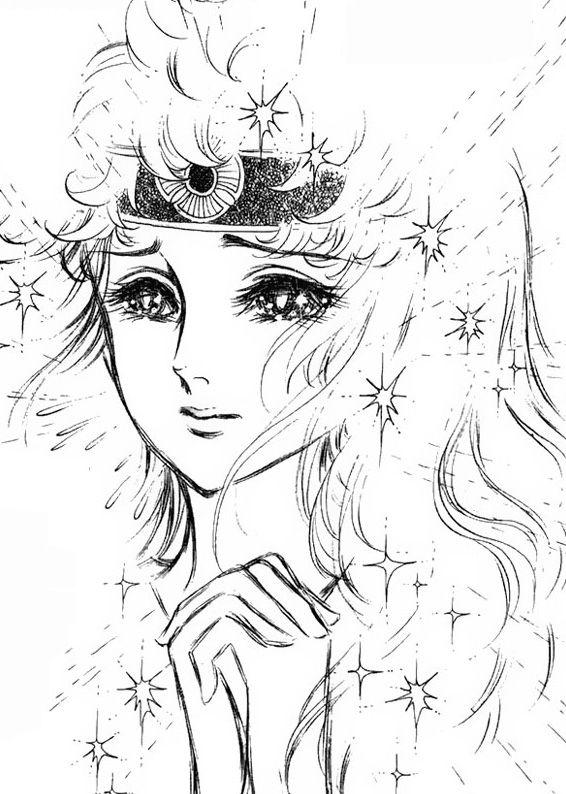 Hình ảnh Carol trắng đen trong bộ truyện Cô gái Sông Nile ( Ouke Monshou ) 尼罗河的女儿; 尼羅河女兒; 王家の紋章; คําสาปฟาโรห์; 왕가의 문장 1dot12_zpsd15aa324