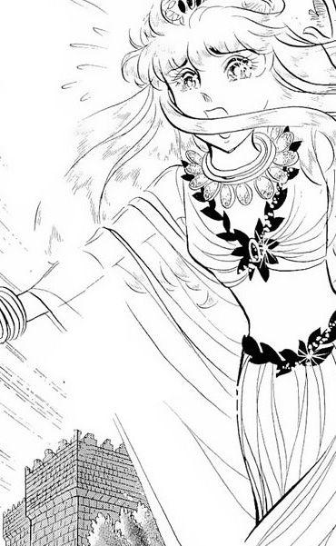 Hình ảnh Carol trắng đen trong bộ truyện Cô gái Sông Nile ( Ouke Monshou ) 尼罗河的女儿; 尼羅河女兒; 王家の紋章; คําสาปฟาโรห์; 왕가의 문장 1dot44_zps35ba4efd