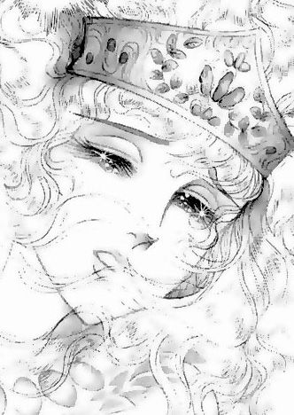 Hình ảnh Carol trắng đen trong bộ truyện Cô gái Sông Nile ( Ouke Monshou ) 尼罗河的女儿; 尼羅河女兒; 王家の紋章; คําสาปฟาโรห์; 왕가의 문장 1dot45_zps3eacec08