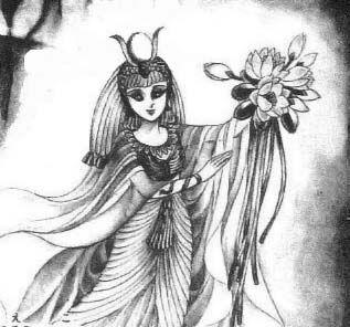 Hình ảnh Carol trắng đen trong bộ truyện Cô gái Sông Nile ( Ouke Monshou ) 尼罗河的女儿; 尼羅河女兒; 王家の紋章; คําสาปฟาโรห์; 왕가의 문장 Q83_zps2b49950b