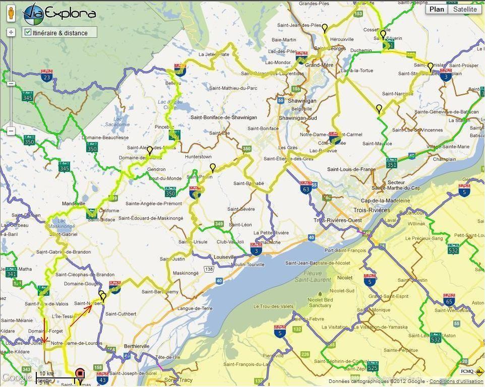 Photo ride-report Joliette/St-Tite sentier#3 et #23 26 février 2012 Map-1