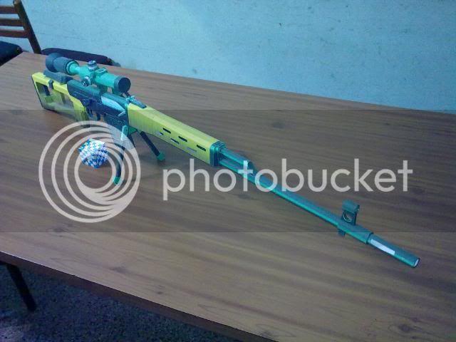 Rifle Dragunov - paper-replika 23092010111