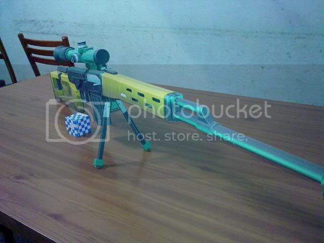 Rifle Dragunov - paper-replika 23092010112