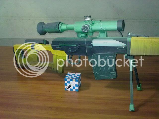 Rifle Dragunov - paper-replika 23092010113