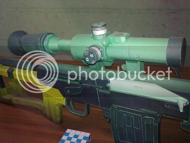 Rifle Dragunov - paper-replika 23092010114