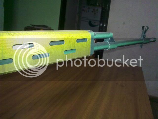 Rifle Dragunov - paper-replika 23092010115