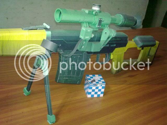 Rifle Dragunov - paper-replika 23092010118