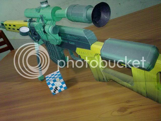 Rifle Dragunov - paper-replika 23092010119