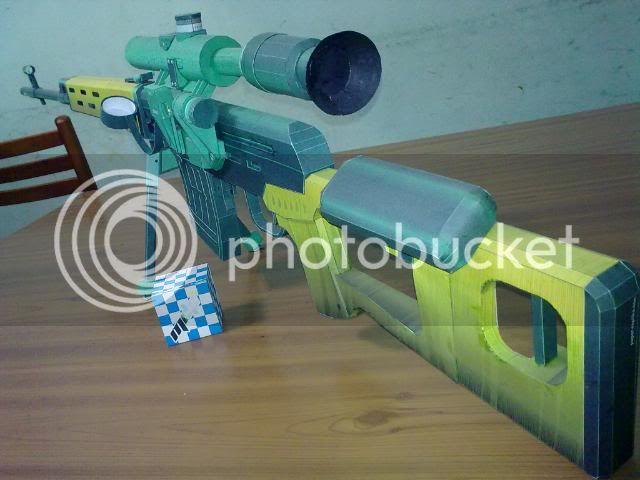 Rifle Dragunov - paper-replika 23092010120