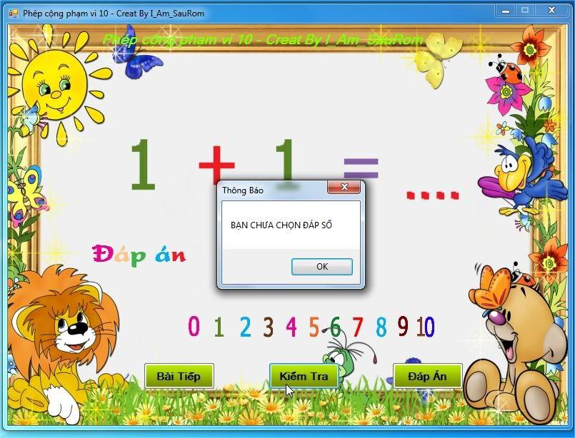 Project Phần mềm dạy toán cho Lớp 1 ThngBo
