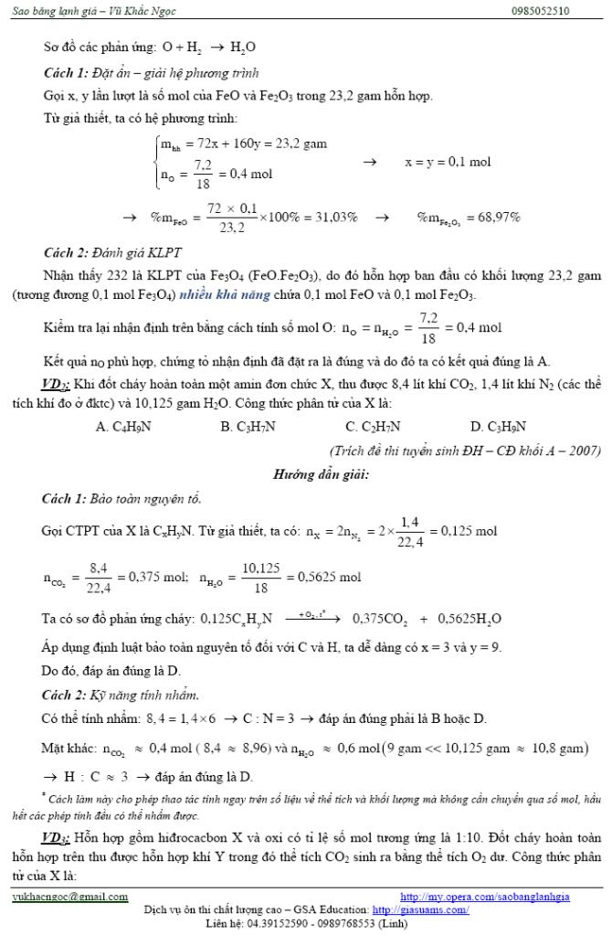 Một số vấn đề trọng điểm để ôn thi môn Hóa nhanh và hiệu quả Ontaphieuqua04