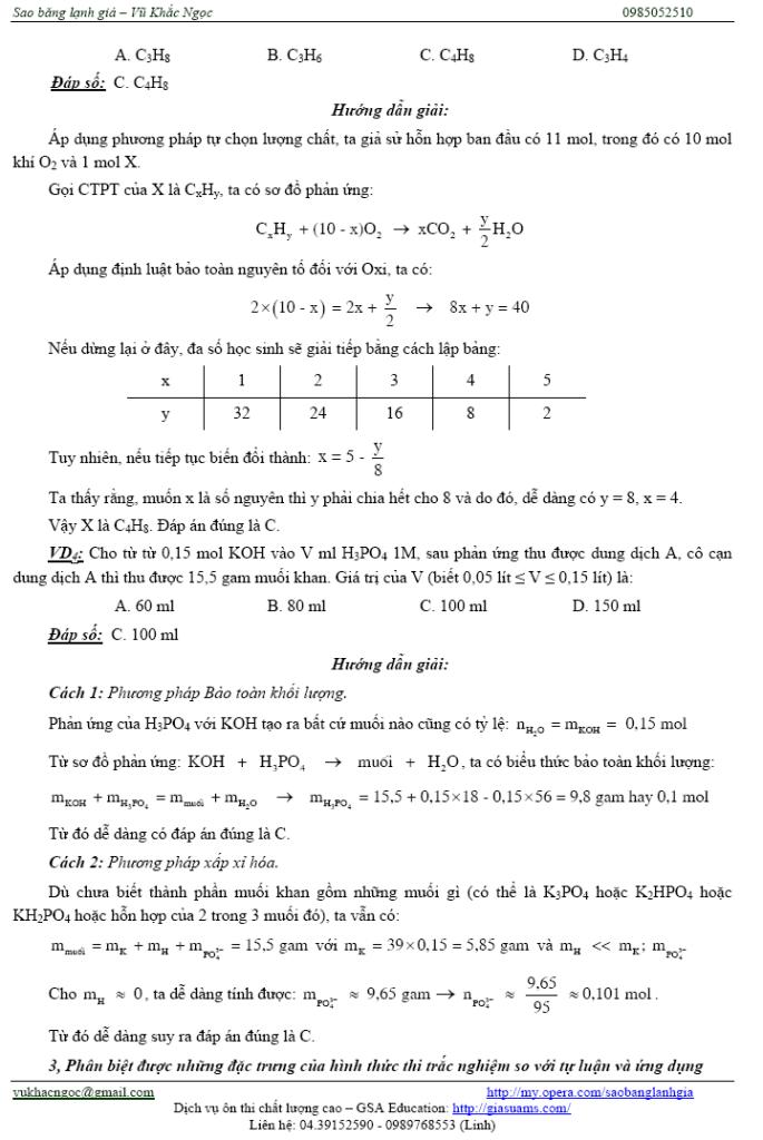 Một số vấn đề trọng điểm để ôn thi môn Hóa nhanh và hiệu quả Ontaphieuqua05