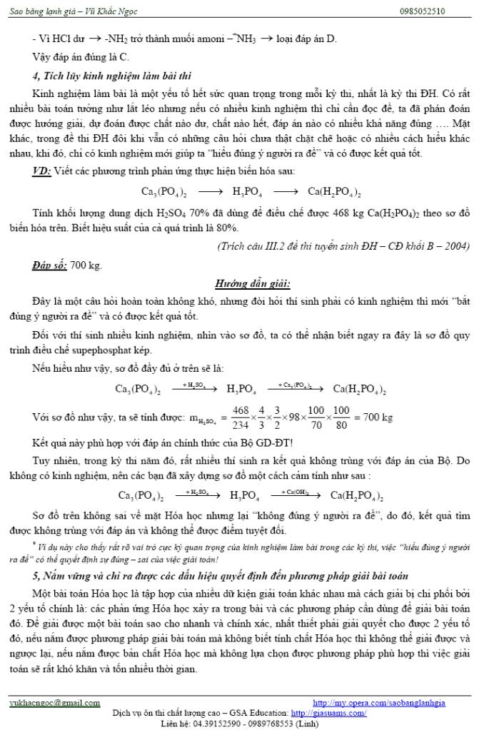 Một số vấn đề trọng điểm để ôn thi môn Hóa nhanh và hiệu quả Ontaphieuqua09