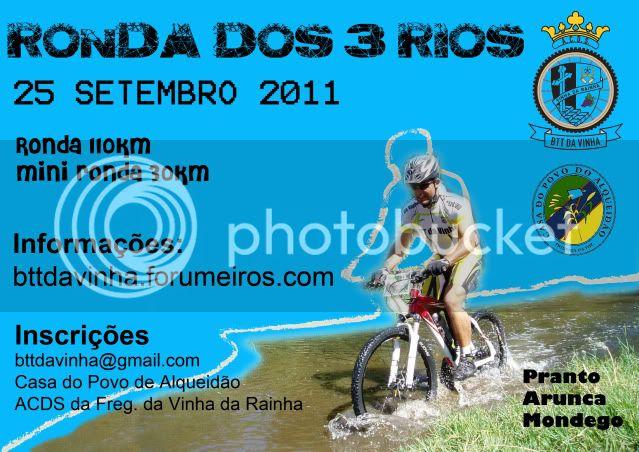 Ronda dos 3 Rios - Edição 2011 - 25SETEMBRO2011 CARTAZfinal