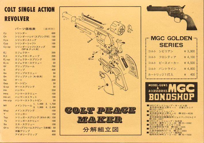 Mgc Colt Sa Revolver Exploded Diagram