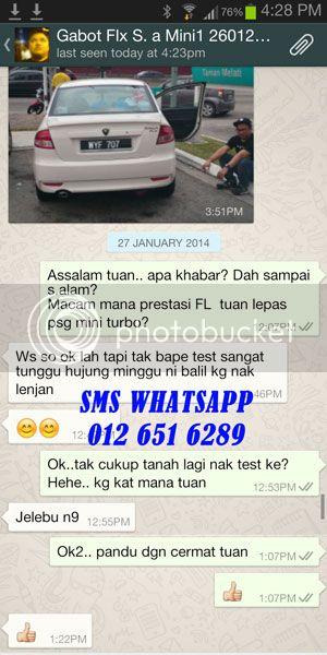 Mini Turbo Tambah Pickup! Laju Naik Bukit! Jimat Minyak! TERBAIK Utk Viva,Myvi,Alza! FLGABOT