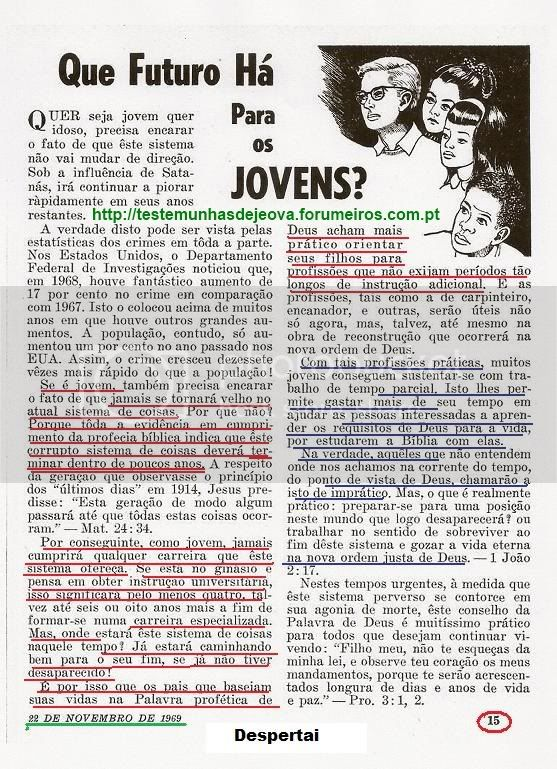 Frequentar ou Não Frequentar uma Universidade Despertai-22-11-1969-pg15