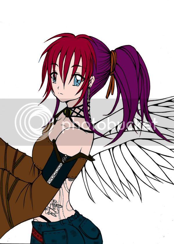 segundo dibujo pintado~ Angelcopia2-1