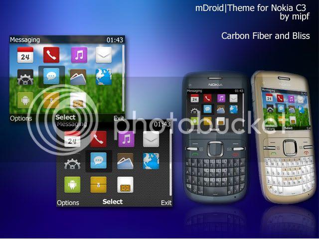 [share] Tổng hợp theme cực đẹp cho Nokia C3-00 & X2-01 Mdroid