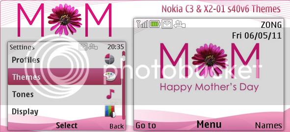 [share] Tổng hợp theme cực đẹp cho Nokia C3-00 & X2-01 Motherday