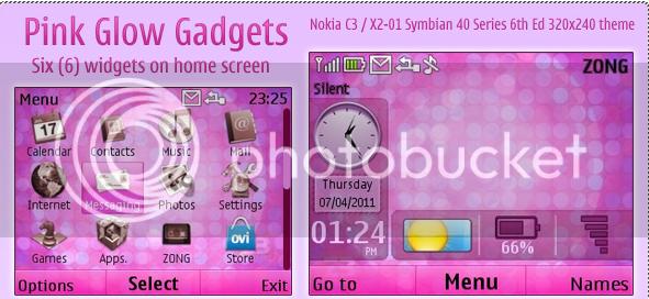 [share] Tổng hợp theme cực đẹp cho Nokia C3-00 & X2-01 Pinkglow