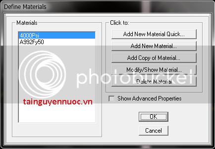 Cơ bản về SAP2000v10 , 11 , 12 cho người mới bắt đầu VatLieu