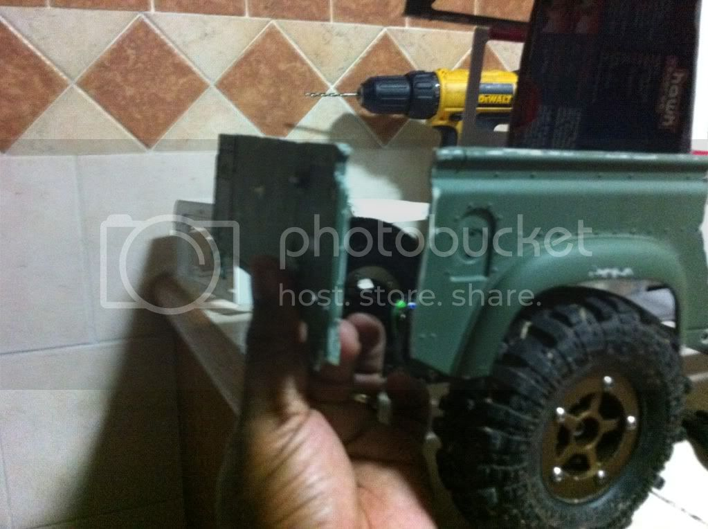 Coldman - Coldman's Defender D110 pickup. IMG_1441