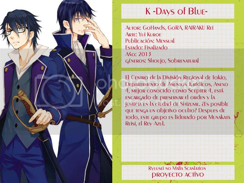 [K -Days of blue]Tomo 2 Caps. 06-10 + Extra [Finalizado] Kdob