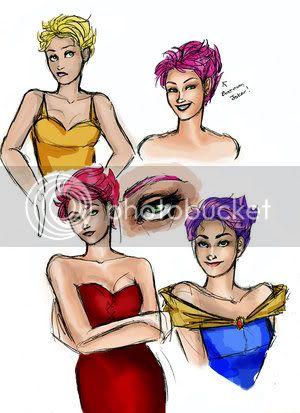 Nymphadora Tonks/Natalia Tena Tonks_Sketches_by_scarletnight