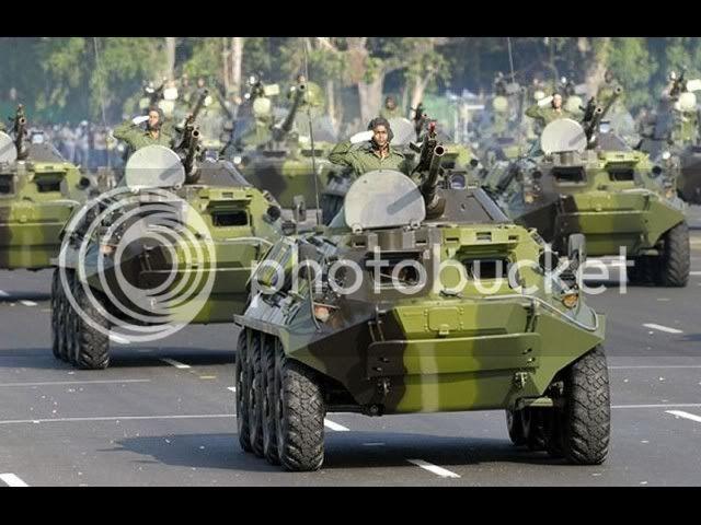 Fuerzas Armadas de Cuba Btr-60_with_bmp-1_turret_76mm_gun_cuban_cuba_army_military_parade_havana_revolution_square_april_16_2011_001