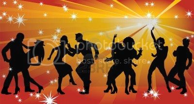 Spice Girls - 12 Maxi Singles 6289010-four-silhouettes-of-dancing-couples-against-a-background-of-golden-rays-and-stars