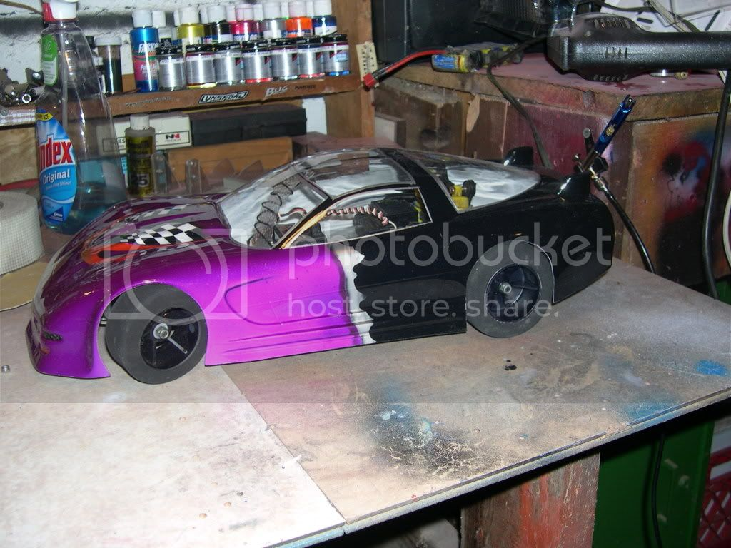 Built a chassis from junk parts to Display bodies DSCN0138