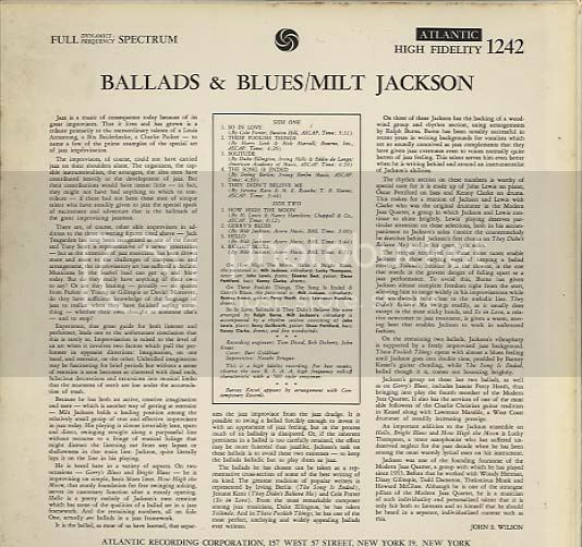 *Os menos badalados do JAZZ* - Página 2 MiltJackson_BalladsBlues2_zps24e649d1