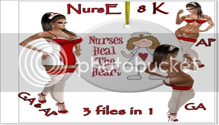 Ashl3yEclipse y BronzeEclipsE tienda Nurse_christmas_ornament-r61b0ed644cb949a68d7c190b37c436a3_x7s2y_8byvr_512