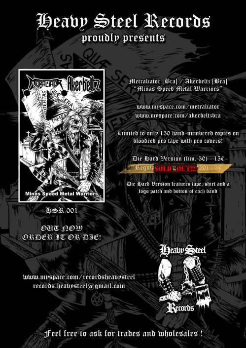 HEAVY STEEL RECORDS -  HUGE UPDATE 25-05-12 [NEW RELEASES OUT] HSR001_Flyer