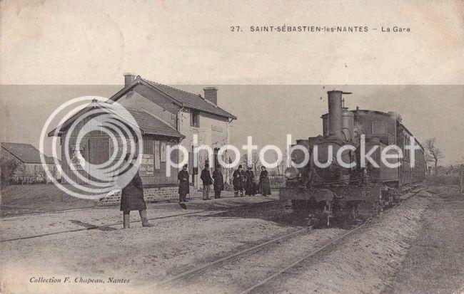Ligne du Petit Anjou en 44 de Nantes à La Remaudière (1899-1947) St-Seacutebastien-sur-Loire