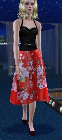 Isle of Catarina Sims January Updates 50s%20style%20full%20skirt%20in%20red%20silk
