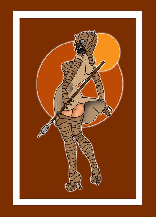 Star Wars - The Cool Weird Freaky Creepy Side of The Force - Page 6 Tusken-Raider-Pinup-Phone-Skin_zps1f4627b2
