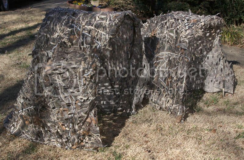 DIY Folding Portable Blinds & camo clothing V-Blind_vs_DogHouseBlind_5080_zpse248af94