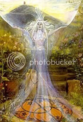 Glastonbury, The Chalice Well (heilige bron) Lady-of-Avalon