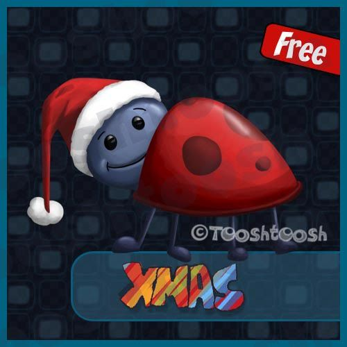 Tooshtoosh - another Xmas freebie and 2 new PTU packs FT1XmasSmallsLadybug