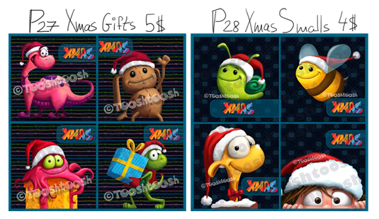 Tooshtoosh - another Xmas freebie and 2 new PTU packs Promoxmas
