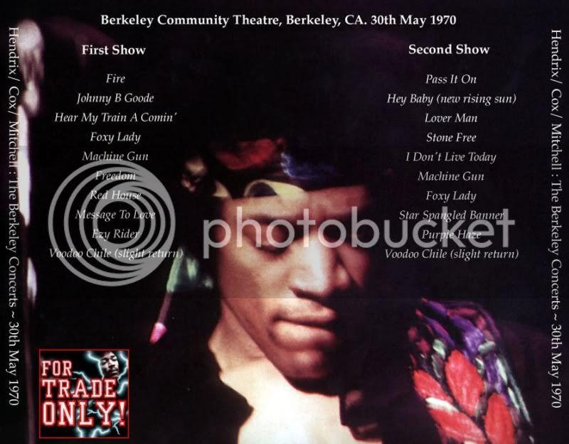 Berkeley (Berkeley Community Theatre) : 30 mai 1970 [Premier concert] HendrixBerkeleyATMBack