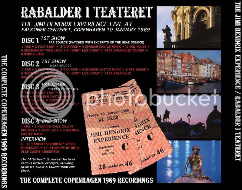 Copenhague (Falkoner Centret) : 10 janvier 1969 [Premier concert] HendrixRabalderTeatretBack