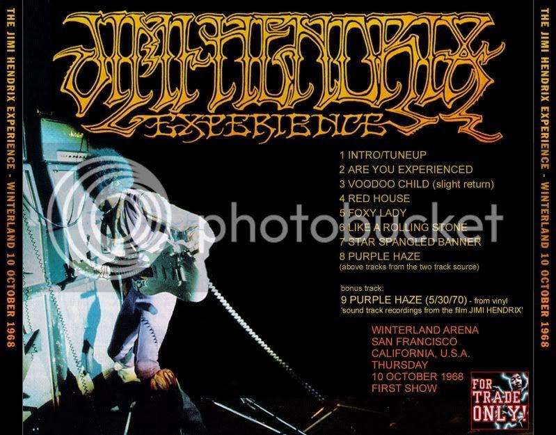 San Francisco (Winterland) : 10 octobre 1968 [Premier concert] HendrixWinterland10Back