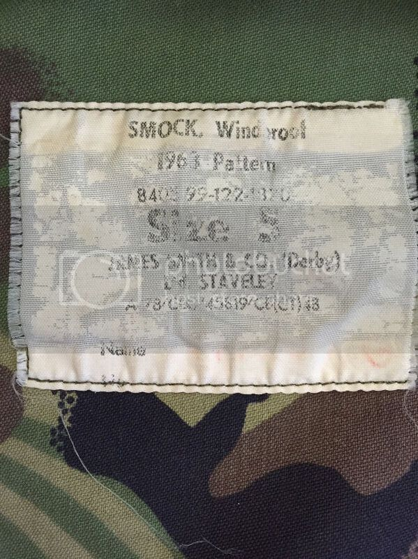 Using labels and markings to date postwar British clothing and equipment 1963_DPM_smock_09_zps3rsdgib5