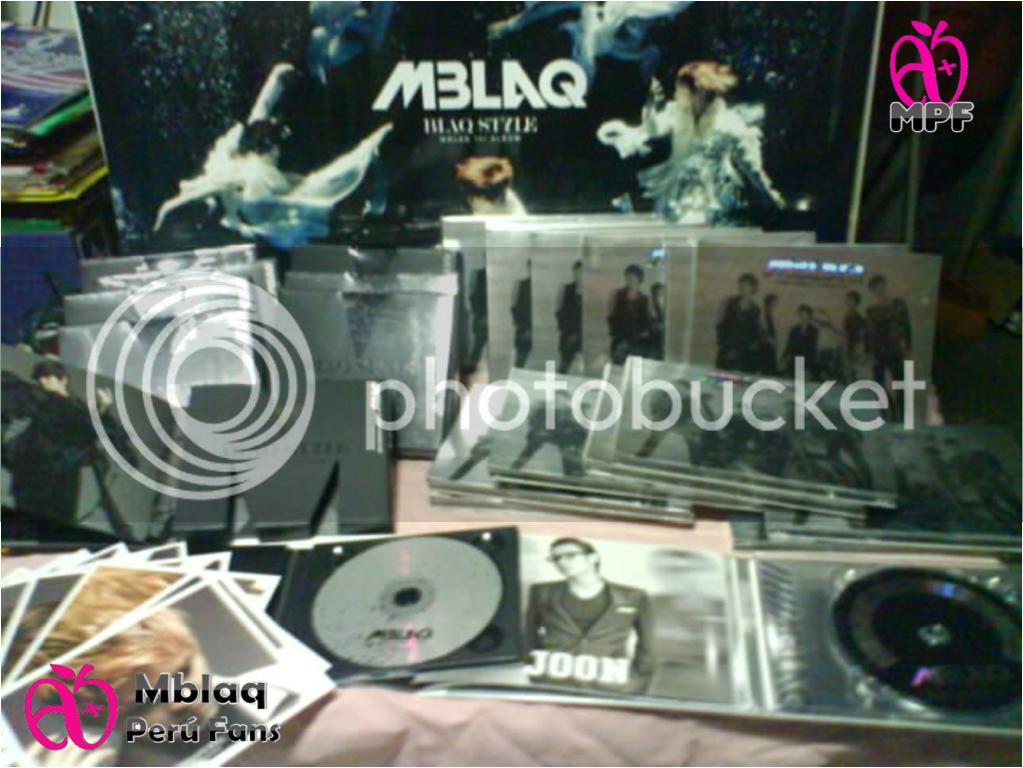 """[FOTOS MPF] Fotos de la llegada del primer album de MBLAQ """"Blaqstyle"""" y del segundo minialbum """"Y"""" Varioscds2mpf"""