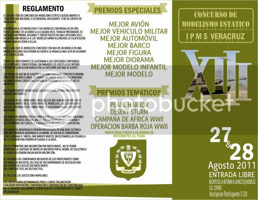 """XIII Edición del Concurso """" IPMS VERACRUZ"""" 2011, 27 y 28 Agosto ¡¡ TripticoI"""